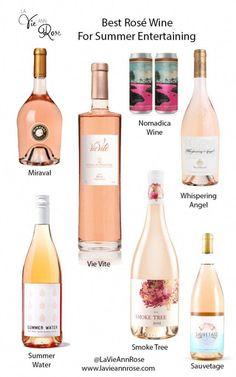 Best Rosé Wine for Summer Entertaining (LaVieAnnRose) Wine Tasting Party, Wine Parties, Best Rose Wine, Wine Chart, Wine Guide, Wine Night, Wine Cocktails, Italian Wine, Wine And Beer