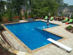 Fun Family InGround Pools  | View Jim's In Ground Pool Creations
