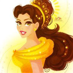 Belle by LilaCattis on DeviantArt Disney Xd, Disney Fan Art, Disney Pixar, Disney Characters, Animation Film, Disney Animation, Pocket Princesses, Disney Animated Films, Disney Princess Belle
