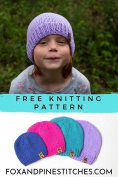Kids Knitting Patterns, Halloween Knitting Patterns, Knitting For Kids, Baby Hats Knitting, Free Knitting, Double Knitting, Baby Patterns, Knitting Yarn, Knitting Projects