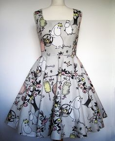 Love this dress!!! Moomin Dress Kawaii Sweet Lolita Handmade  All by Frockasaurus, £75.00