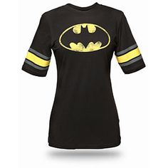 ThinkGeek :: Batman Hockey Stripe Babydoll