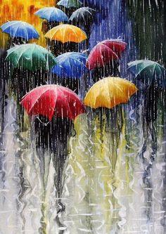 bajo la lluvia de colores...