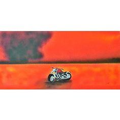 Harley Davisdon Bike in the desert. Oil. 1200x610 By Jane Flowers for R950.00