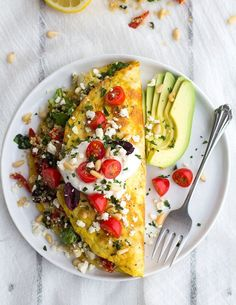 Vegetable and Feta Cheese Omelet | 21 Filling Low-Carb Recipes With No Meat
