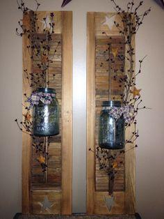 primitive shutter decor, primit shutter, decorating shutters, shutters decor, decor shutter, decorative shutter, decorate shutters