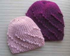 Knitting Pattern 71 Baby Hat with a Butterfly by handknitsbyElena