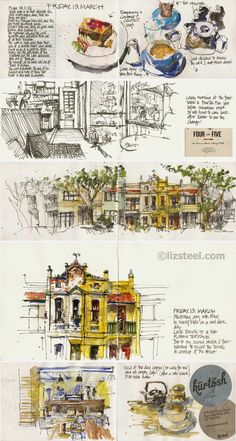 Two fun sketching day outs: Manly and Surry Hills