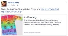From Upcycled Mens Tees & Unique Womens Dresses, to Children's Yoga Pants & Tie Dye Baby Onesies, find alternative style clothing, jewellery, accessories, cards & gifts. All one of a kind pieces upcycled with love by AbiDashery - for that person who likes to be a little unconventional! :) https://www.etsy.com/shop/abidashery