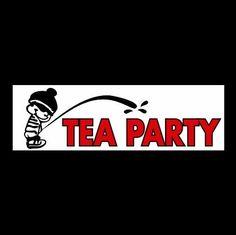 New ANTI-TEA PARTY Democratic Party BUMPER STICKER, decal election liberal u.s.