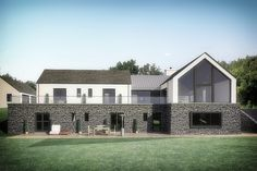 Mullan Chartered Architects work hand in hand with our clients and contractors to produce outstanding buildings, ranging from small domestic extensions, alterations and bespoke dwellings to large scale commercial and private developments. Modern Bungalow Exterior, Modern Bungalow House, Rural House, Modern House Design, Modern Houses, House 2, House Designs Ireland, House Ireland, House Construction Plan