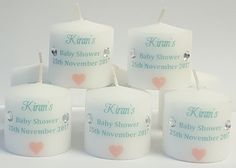 Bespoke party favours for all events Baby Shower Favours, Personalized Baby Shower Favors, Mini Candles, Pillar Candles, 3rd Baby, Party Favors, Souvenirs, Bebe, Princess Party Favors