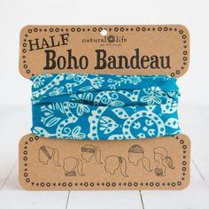 Turquoise & Cream Mandala Half Boho Bandeau!!