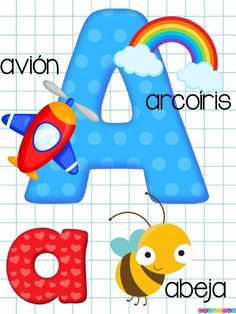 Bonito abecedario a todo color -Orientacion Andujar Preschool Learning Activities, Book Activities, Preschool Activities, Teaching Kids, Kids Learning, Alphabet Letters Images, Phonics Flashcards, Spanish Teaching Resources, Kids Education