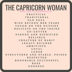 The Capricorn Woman: The Classy and Bossed Up Goddess Capricorn Facts, Capricorn Quotes, Zodiac Signs Capricorn, Capricorn And Aquarius, Zodiac Star Signs, My Zodiac Sign, Zodiac Facts, Capricorn Aesthetic, All About Capricorn