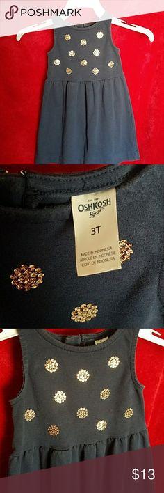 Baby girl dress Navy blue comfy dress OshKosh B'gosh Dresses Casual
