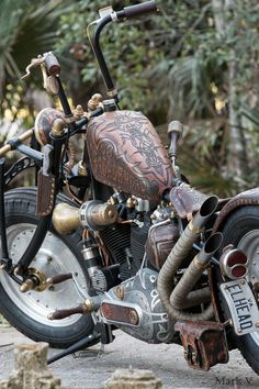 Leatherhead Leather Wrapped Bike Motorcycle by BAD&G CUSTOMS https://badgcustoms.com/