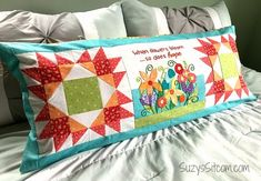 Sitcom 133 All Block, Quilted Pillow, Pattern Blocks, Bed Pillows, Pillow Cases, Bloom, Quilts, Blanket, Spring