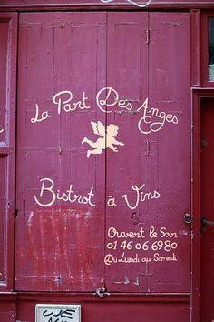 Montmartre, La Part des Anges, bistrot, rue des Trois Frères, Paris XVIII