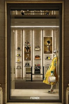 Traces of the new window theme featuring the Strap You accessory collection at Palazzo Fendi in Rome.