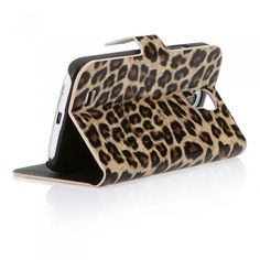 Leopard Print Luxury Flip Wallet Case Cover for Samsung Galaxy S4 i9500/i9505