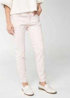 Pantalón pitillo algodón - Pantalones de Mujer | OUTLET