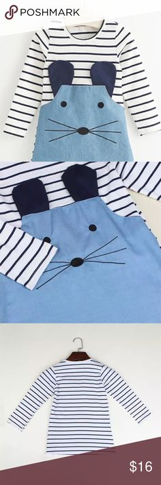 NWT ever-so-cute Mouse Dress Three adorable long sleeve NWT dresses 2T, 3T, and 4T.  These are so cute, cotton material.   Would make a great Christmas gift . Don't forget to bundle and save Dresses Casual