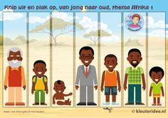 Van jong naar oud, kleuteridee, Kindergarten math boy young, old older, free printable.