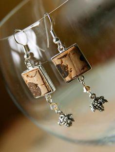 Wine Cork earrings - *Inspiration*