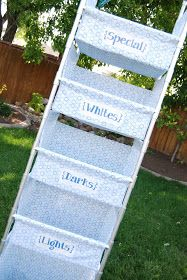 Laundry sorter PVC pipe and cloth
