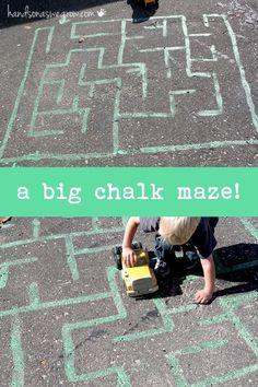 A Big Chalk Maze for Preschoolers