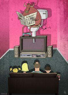 Latriste realidad acerca del mundo moderno enlas ilustraciones deSteve Cutts