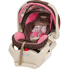 Baby's new car seat! Cutest seat I've ever seen. Graco SnugRide 35 in Lily