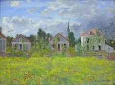 Claud Monet. Houses at Argenteuil, 1873