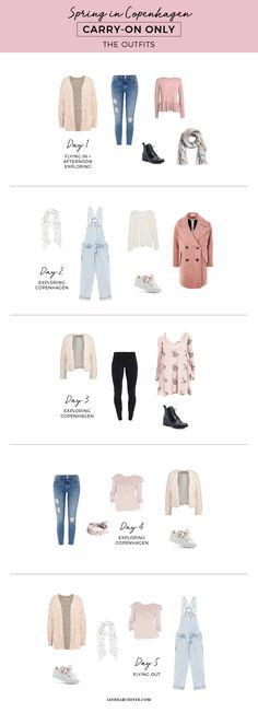 Spring Carry-on Only Wardrobe for Copenhagen - Light Packing