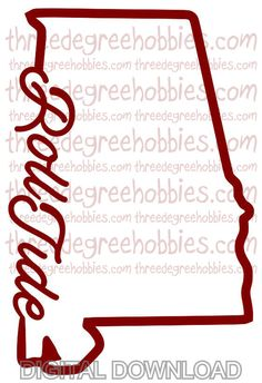 Alabama Roll Tide Digital Download  SVG DXF by ThreeDegreeHobbies