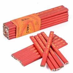 10pcs Carpenter Pencils Black Edge Builders Joiners DIY Woodworking Marking Tool