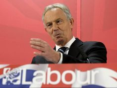 An Unholy Alliance.      As the pressure mounts on Jim Murphy for tonight's debate Tony Blair stepped out of whatever Gold Digging corporate hellhole he'd been working to announce his '100% backing for Miliband', a strangely un-reassuring commitment probably about as welcome as his rejected  money. Horrible, nasty, wicked little shit.