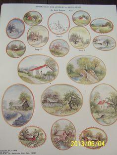 """China Painting Study """"Jewelry Medallions"""" Beth Watson 3 Page   eBay"""