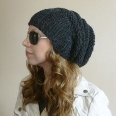THE MEGA HIVE Slouchy Beanie Slouchy Hat Knitted by BoPeepsBonnets, $32.00