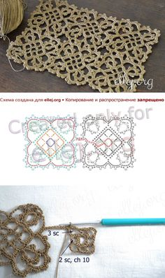 Irish lace Irish crochet flower motives, off white flower applique, Irish crochet decor, wedding dec Crochet Motif Patterns, Crochet Blocks, Crochet Chart, Crochet Squares, Crochet Stitches, Crochet Snowflakes, Crochet Doilies, Crochet Lace, Crochet Flowers