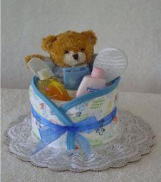 Boy diaper cupcake