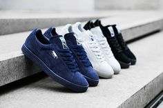 A flawless execution of the most classic PUMA silhouette Puma Suede Black, Puma Suede Classic, Best Sneakers, All Black Sneakers, Puma Suede Trainers, Lacoste, Suede Shoes, Shoe Boots, Adidas Superstar