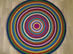 Crochet round rug, 52'' (132 cm)/Crochet Rug/Rugs/Rug/Area Rugs/Floor Rugs/Large Rugs/Handmade Rug/Carpet/Wool Rug by AnuszkaDesign on Etsy