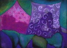 Pastel Painting The Hideaway  Purple and Magenta by DianeClancy, $65.00