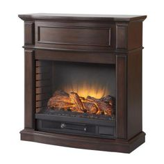 8957f376df Home Decorators Collection Niya 32 in. IR Electric Fireplace in Dark  Cherry-25-898-72 - The Home Depot