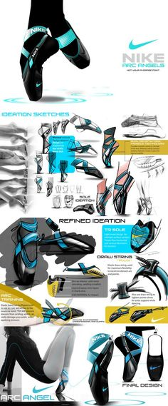 "Ballet Training Footwear Solution - ""Nike Arc Angel"" - Designer: Guercy Eugene future pointe shoes"