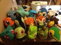 Starter Pokemon Hats.