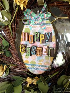 #papercrafting #Easter #homedecor: The Artful Maven Haven: Hoppy Easter Wreath Plaque
