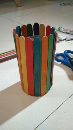 #coloring #ice #cream #sticks #craft #pen #stand